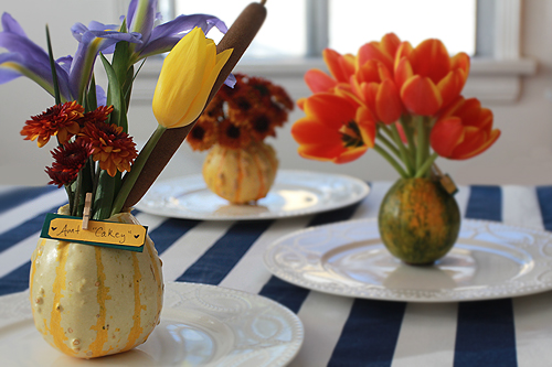 Decorative Gourd Place Cards for Thanksgiving