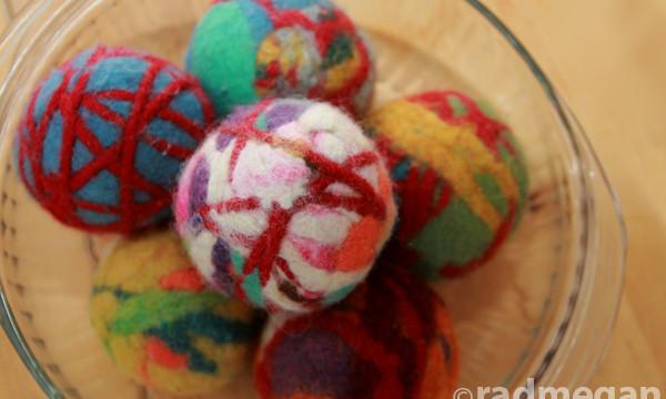 Wet Felted Dryer Balls