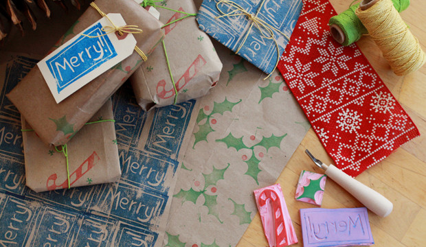 Carving Stamps for Paper Bag Gift Wrap