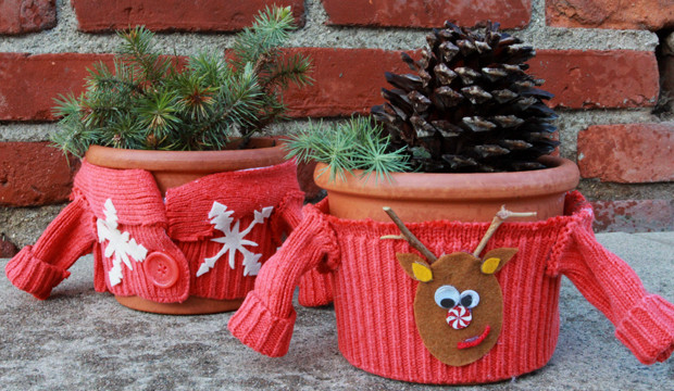 Ugly Sweater Plant Cozies