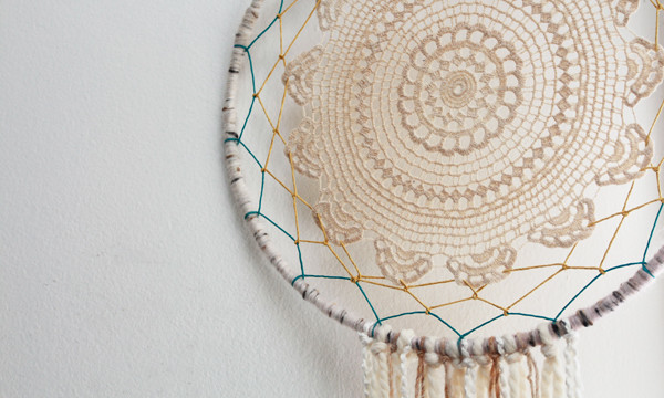 Lace Doily Dream Catchers for eHow