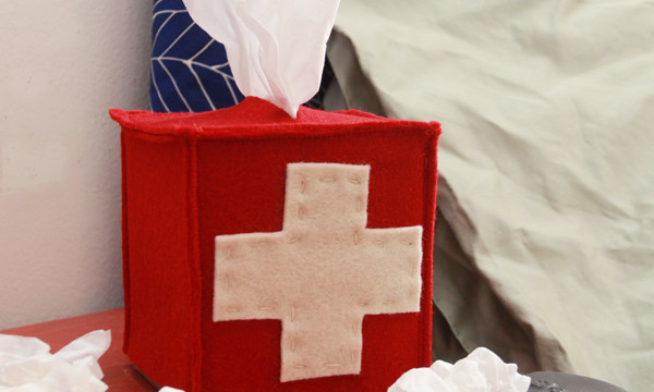 Kirst Aid Felt Tissue Box Cover for eHow