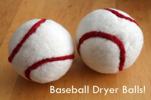 Baseball Themed Dryer Balls