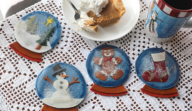 Winter Wonderland Snow Globe Coasters