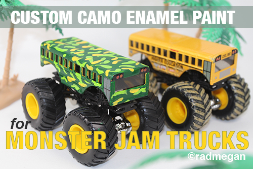 Custom Enamel Paint for Hot Wheels Monster Trucks