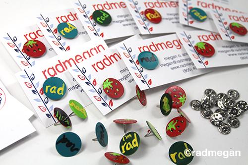 DIY Enamel (Painted) Pins - Radmegan