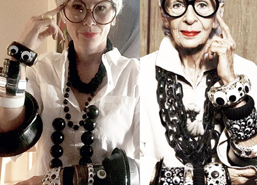 Becoming Iris Apfel for Halloween