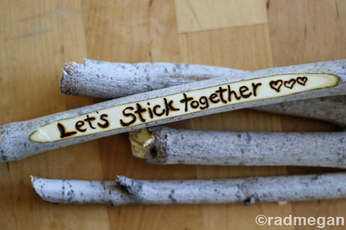 Sticks Stones A Frugal Outdoorsy Valentine S Day Craft Radmegan